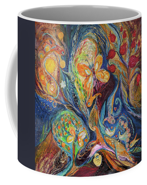 Original Coffee Mug featuring the painting Longing For Chagall by Elena Kotliarker