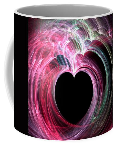 Valentines Day Digital Art Coffee Mug featuring the digital art Longing by Kathleen Sartoris