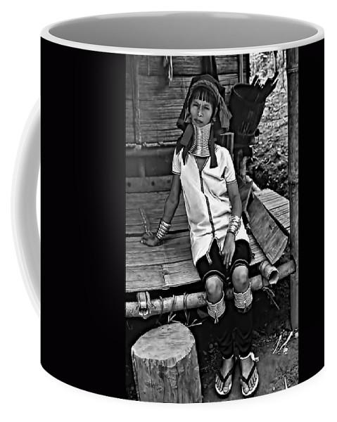 Jungle Coffee Mug featuring the photograph Longneck Beauty Bw by Steve Harrington