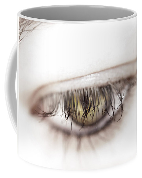 Eye Coffee Mug featuring the photograph Look Away by Kelly Jade King