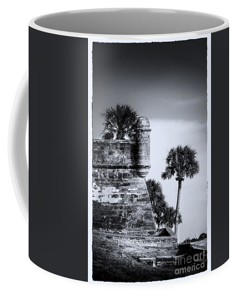 Fort Coffee Mug featuring the photograph Look Out - Bw by Marvin Spates