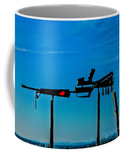 Vietnam Coffee Mug featuring the photograph Look Up To The Sky For Rescue by Tommy Anderson