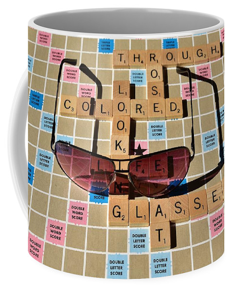 Linda Brody Coffee Mug featuring the photograph Looking At Life Through Rose Colored Glasses II by Linda Brody