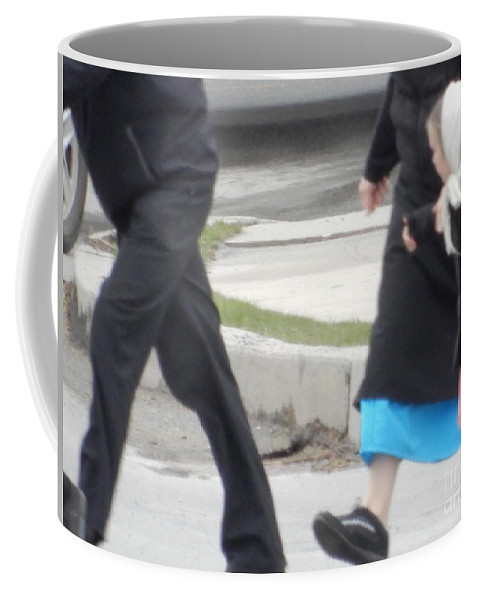 Amish Coffee Mug featuring the photograph Looking At Mom by Christine Clark