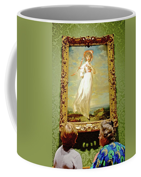 Looking At Pinkie In Huntington European Art Museum In Huntington Gardens In San Marino Coffee Mug featuring the photograph Looking At Pinkie In Huntington European Art Museum In San Marino-california by Ruth Hager