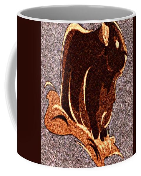 Groundhog Coffee Mug featuring the digital art Looking At You by Devorah Fraser