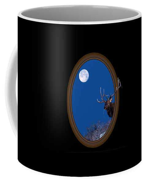 Elk Coffee Mug featuring the photograph Looking Beyond by Shane Bechler