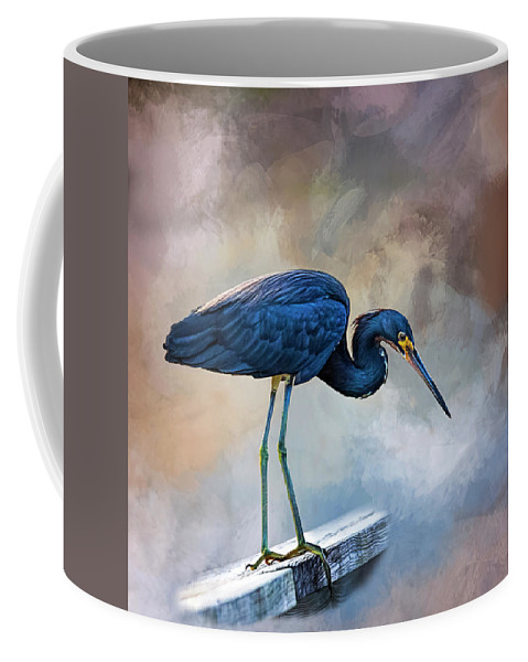 Heron Coffee Mug featuring the photograph Looking For The Catch Of The Day by Cyndy Doty