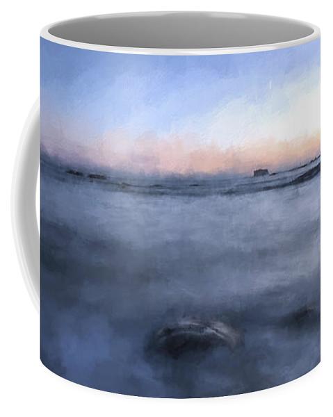 Art Coffee Mug featuring the digital art Looking For The Edge II by Jon Glaser