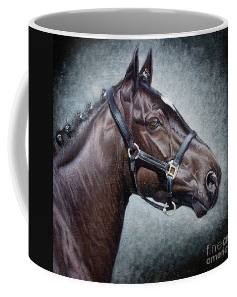 Horse Coffee Mug featuring the painting Looking Good by Pauline Sharp