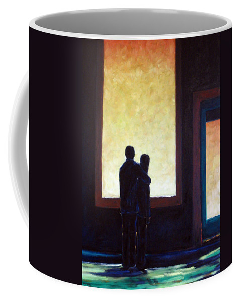 Pranke Coffee Mug featuring the painting Looking In Looking Out by Richard T Pranke
