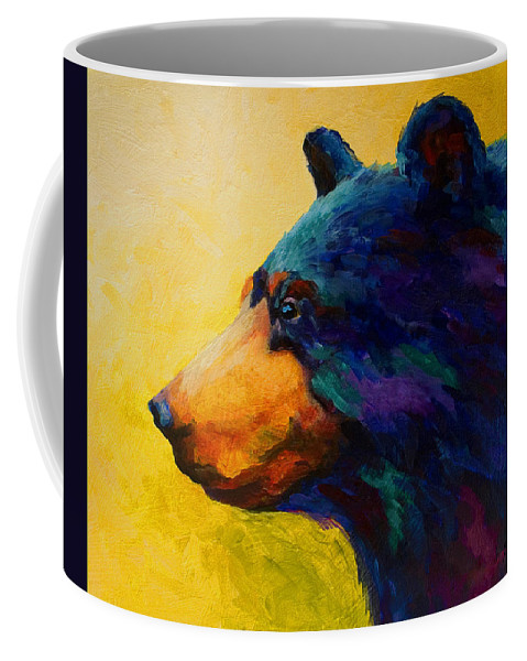 Bear Coffee Mug featuring the painting Looking On II - Black Bear by Marion Rose