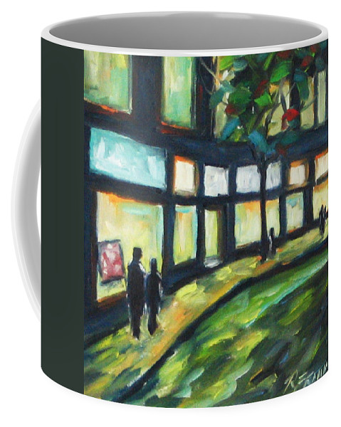 Town Coffee Mug featuring the painting Looking On by Richard T Pranke