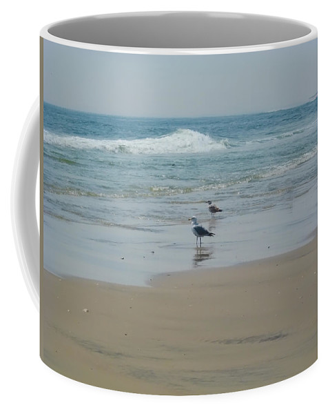 Beach Coffee Mug featuring the photograph Looking Out Into The Sea by Bill Cannon