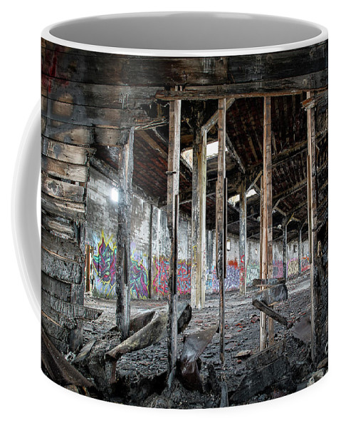 Rail Coffee Mug featuring the photograph Looking Through by Joann Long