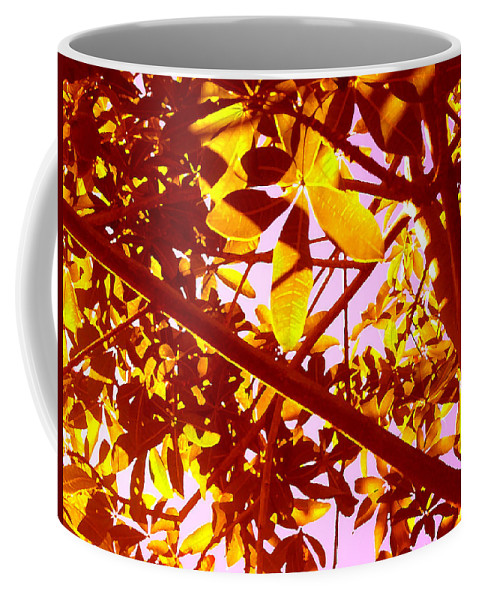 Garden Coffee Mug featuring the painting Looking Through Tree Leaves 2 by Amy Vangsgard