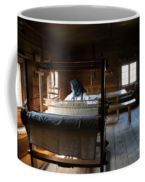 Skansen Coffee Mug featuring the photograph Loom by Suzanne Luft