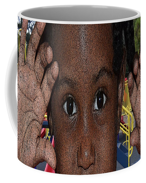 Kids Day Coffee Mug featuring the photograph Loooking by Cleotha Williams
