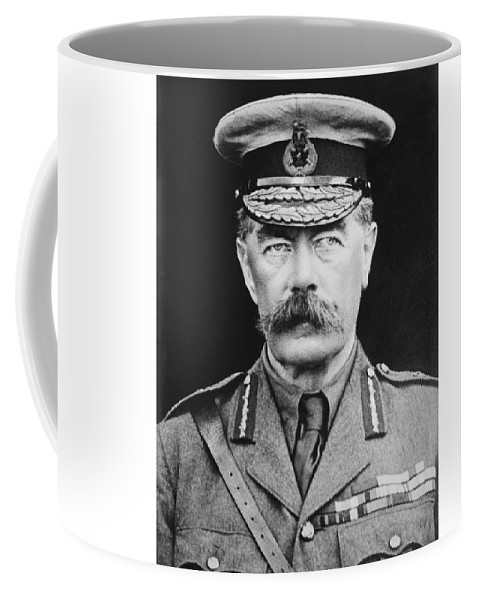 Wwi Coffee Mug featuring the photograph Lord Herbert Kitchener by War Is Hell Store
