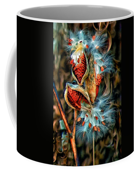Milkweed Coffee Mug featuring the photograph Lord Of The Dance 2 by Steve Harrington
