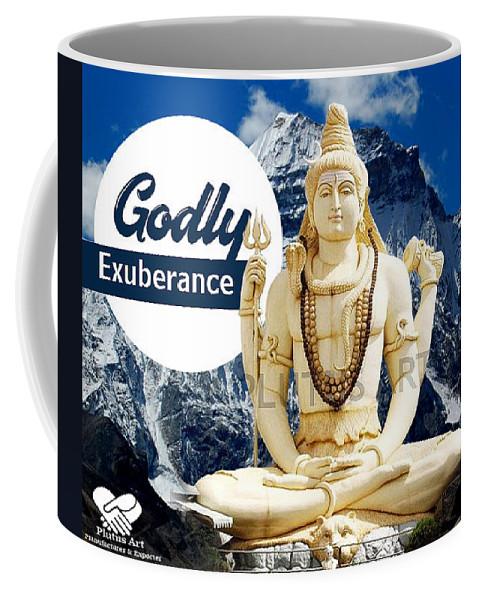 Fiberglass Shiva Coffee Mug featuring the sculpture Lord Shiva by Plutus Art