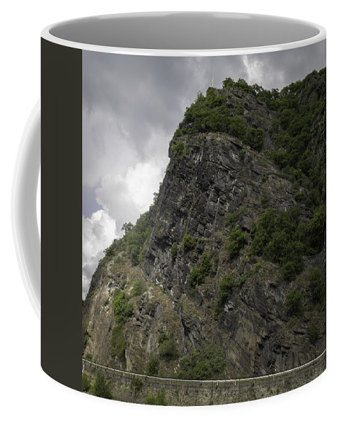Loreley Coffee Mug featuring the photograph Loreley Rock 17 by Teresa Mucha
