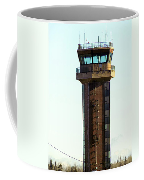 Air Force Base Coffee Mug featuring the photograph Loring Air Base Tower by William Tasker