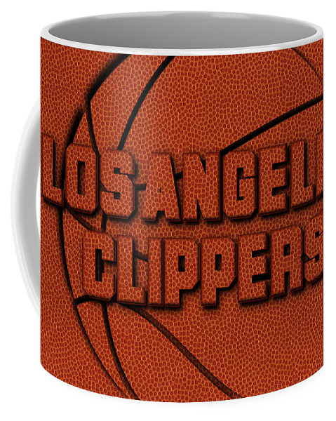 Clippers Coffee Mug featuring the photograph Los Angeles Clippers Leather Art by Joe Hamilton