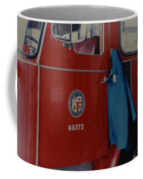 Los Angeles Fire Department Coffee Mug featuring the photograph Los Angeles Fire Department by Rob Hans