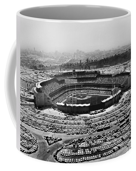 1962 Coffee Mug featuring the photograph Los Angeles: Stadium, 1962 by Granger