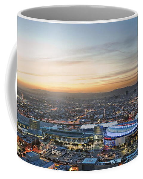 Los Angeles Coffee Mug featuring the photograph Los Angeles West View by Kelley King