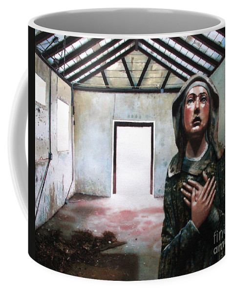 Icon Coffee Mug featuring the painting Losing My Religion by Denny Bond