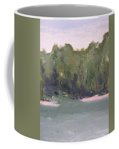 Beach Coffee Mug featuring the painting Lost Beach by Patricia Caldwell