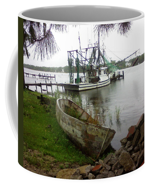 Boat Coffee Mug featuring the photograph Lost Boat by Patricia Caldwell