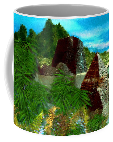 Digital Fantasy Painting Coffee Mug featuring the digital art Lost City by David Lane