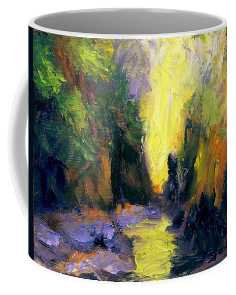 Landscape Coffee Mug featuring the painting Lost Creek by Gail Kirtz