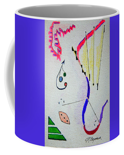 Abstract Coffee Mug featuring the mixed media Lost Directions by J R Seymour