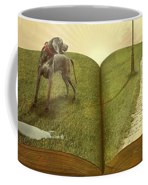 Coffee Mug featuring the digital art Lost In A Book by Mateo Antonio