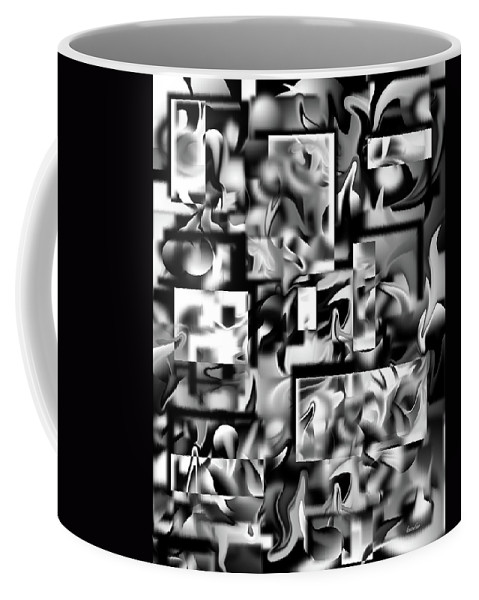 Abstract Coffee Mug featuring the digital art Lost In Dimension V by Betsy Knapp