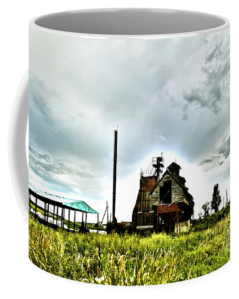 Soviet Coffee Mug featuring the digital art Lost Mill by Alessandro Cini