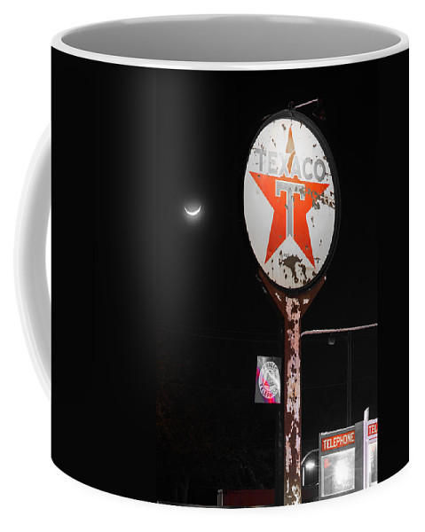 Texaco.telephone Coffee Mug featuring the photograph Lost On The Road by Rospotte Photography