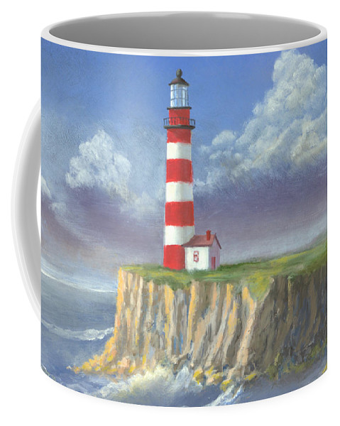 Light Coffee Mug featuring the painting Lost Point Light by Jerry McElroy