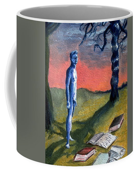 Lost Boy Coffee Mug featuring the painting Lost by Rene Capone