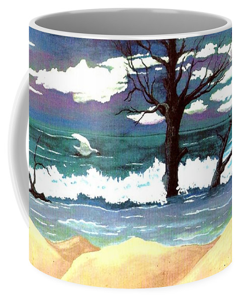 Original Watercolor Painting Coffee Mug featuring the painting Lost Swan by Patricia Griffin Brett