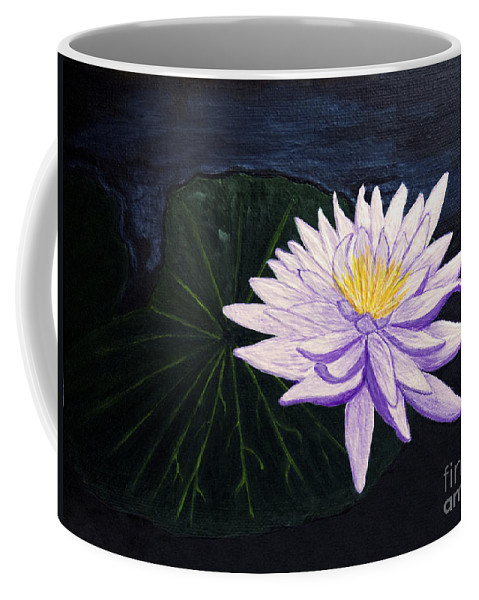 Original Painting Coffee Mug featuring the painting Lotus Blossom at Night by Patricia Griffin Brett