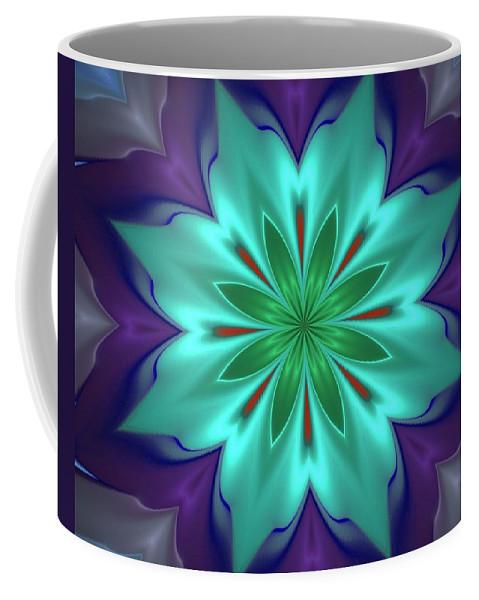 Fine Art Coffee Mug featuring the digital art Lotus by David Lane