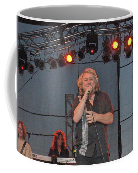 Lou Gramm Band Music Singer Rock And Roll Concert Lead Vocals Coffee Mug featuring the photograph Lou Gramm by Andrea Lawrence