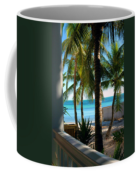 Photos Of Key West Coffee Mug featuring the photograph Louie's Backyard by Susanne Van Hulst
