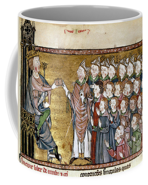 1340 Coffee Mug featuring the painting Louis Ix (1214-1270) by Granger