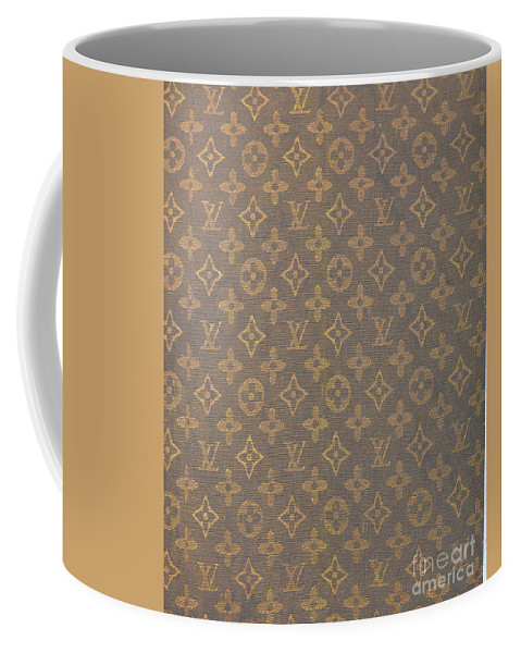 4c081ce5e53472 Louis Vuitton Coffee Mug featuring the photograph Louis Vuitton Fabric  Pattern Monograms by To-Tam